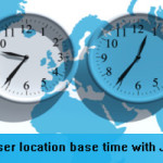 Display local time according to visitor's location with JavaScript and php