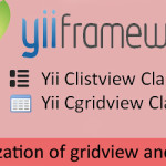 yii grid view and list view reference