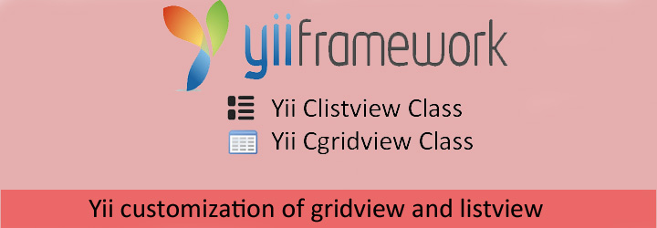 yii grid view and list view