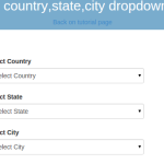 Dependent Drop down lists in YII