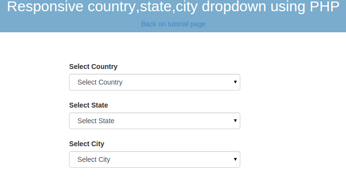 dependent drop down list