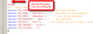 Remove_Space_from_wp-config